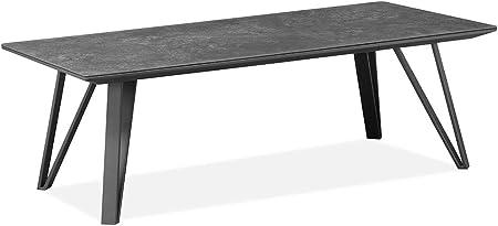 Meubletmoi Table Basse Gris Anthracite Rectangulaire Ceramique Et
