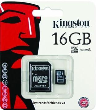 Kingston Micro SD Tarjeta de memoria, 16 GB, clase 4 ...