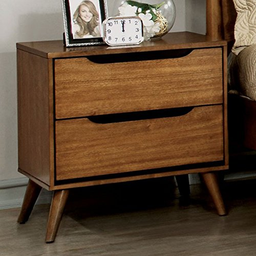 "5181q3dgSyL - Furniture of America CM7386A-N Lennart Oak Nightstand, 24"" H"