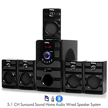 Frisby FS-5040BT 5.1 Surround Sound Home Theater Speakers System with Bluetooth USB/SD and Remote