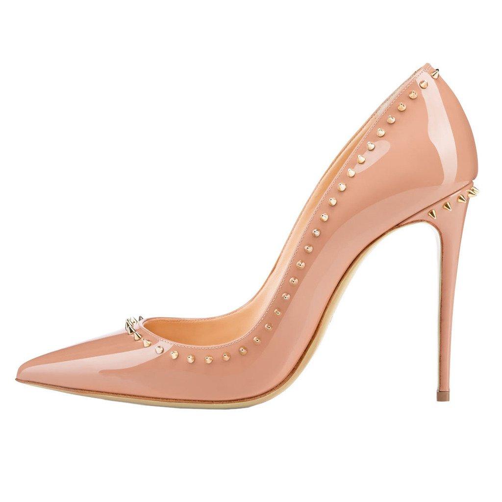 EKS - Zapatos de tacón alto con remaches Mujer 42 EU|- Nackt-10cm