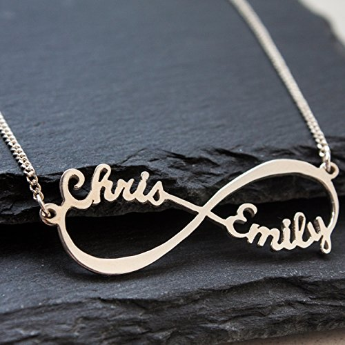 Amazon sterling silver infinity necklace personalized name sterling silver infinity necklace personalized name infinity necklace infinity pendant necklace infinity name aloadofball