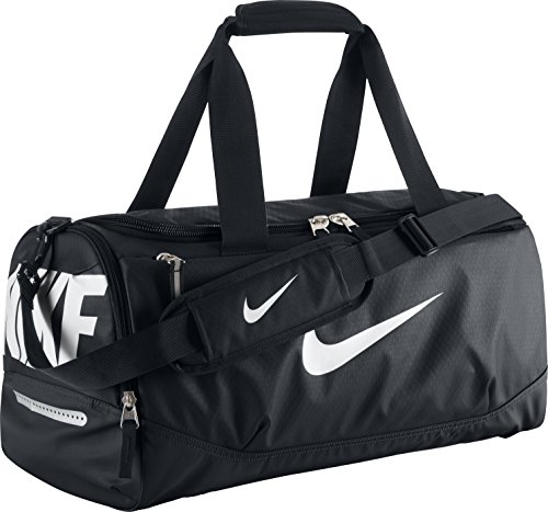 New Nike Team Training Max Air Small Duffel Bag Black/Black/White Review