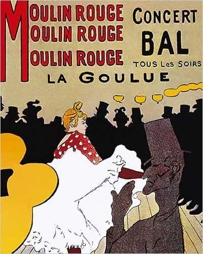 Moulin Rouge Concert Bal, La Goulue by Henri De Toulouse-Lautrec ...