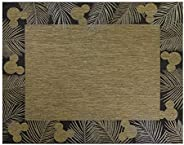 Gertmenian 46318 Disney Outdoor Rug Patio Mickey Mouse Outside Carpet, 6x9 Medium, Palm Border Chestnut Brown