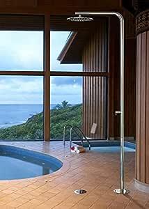 Fontealta Acero inoxidable jardín ducha exterior Ducha Classy C40 Pulido: Amazon.es: Jardín