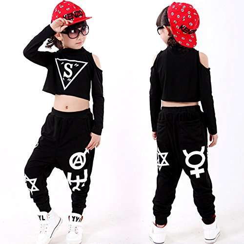 f319c1926 Voleseni™ Girls Children Modern Jazz Hip-Hop Dancewear Kids Dance Costumes  Top&Pants