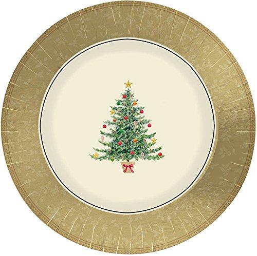 Amscan International Paper Plates Victorian Tree Design 18cm Pack Of 8