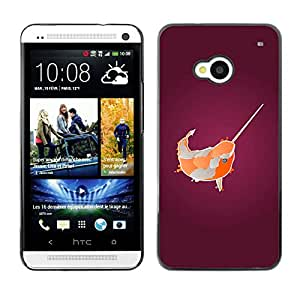 MOBMART Carcasa Funda Case Cover Armor Shell PARA HTC One M7 - The Spiked Overturned Fish
