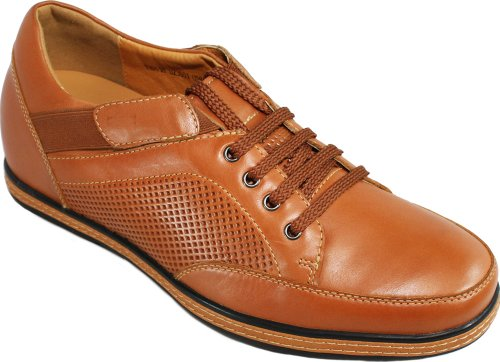 Toto - d23001-6,6 cm Grande Taille - Hauteur Augmenter Ascenseur shoes-brown Décontracté à Enfiler