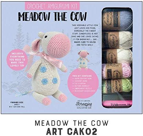 Kit de ganchillo amigurumi Kit de juguete de hilo de algodón Kit de tejer – Incluye guía de construcción – para principiantes y expertos Crocheters – Modelo 2 Meadow The Cow: Amazon.es: