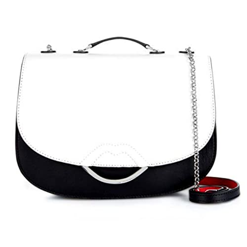 6f08a5176901b New Lulu Guinness Black and Chalk Isabella Lips Leather Handbag Gift Boxed  with Dust Bag  Amazon.co.uk  Shoes   Bags