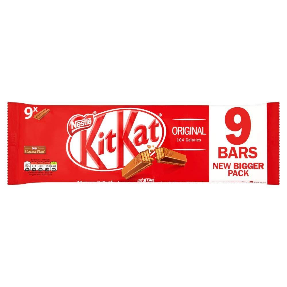 KitKat Milk Chocolate Bar Multipack, Pack of 9