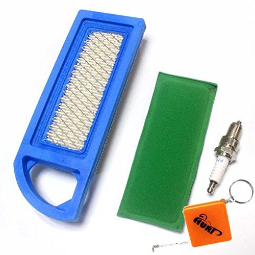 HURI Filtre à air pré-filtre ave Bougie d'allumage pour Briggs & Stratton 697153 697014 698083 795115 697015