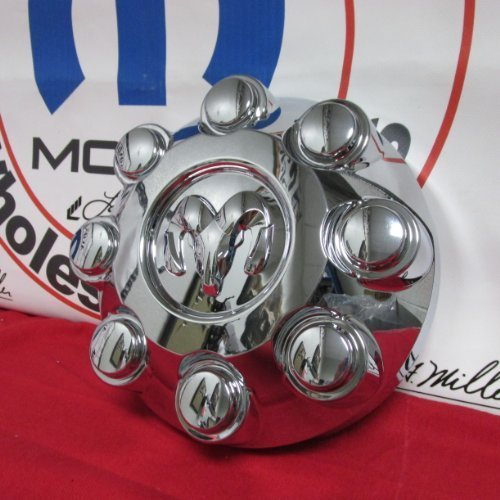 Image of Mopar Dodge Ram Truck 2500 3500 Chrome Center Hub Cap Wheel Cover OEM Center Caps