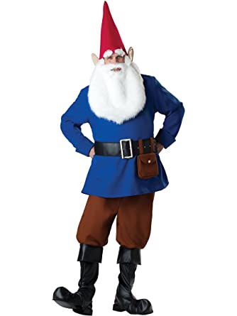 incharacter costumes mens mr garden gnome costume bluetan medium - Garden Gnome Costume