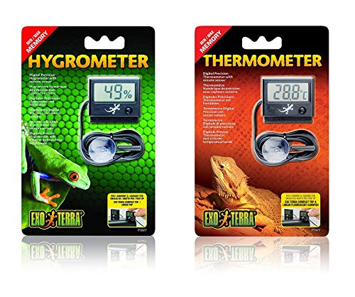 Exo Terra LED Thermometer and Hygrometer Bundle for Reptile Terrariums