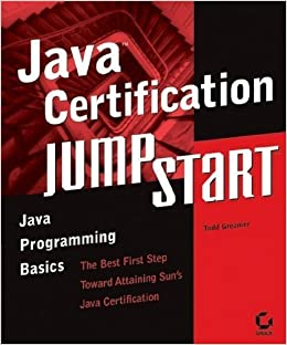 Book Java Certification JumpStart by Todd Greanier (2003-07-18)