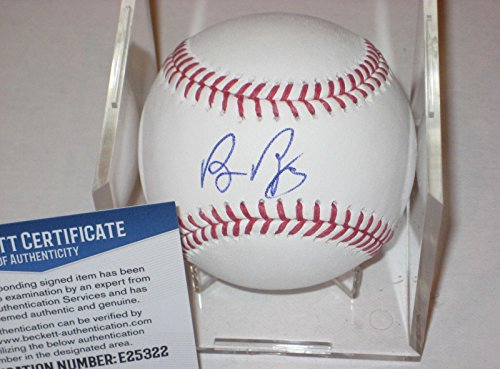 Baseball-mlb Balls Bruce Bochy Sf Giants Signed Official Omlb Baseball Auto Beckett Bas Coa