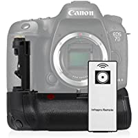 Powerextra BG-E16 Battery Grip Replacement for Canon EOS 7D Mark II Digital SLR Camera with Infrared Remote Control Work with 2 pcs LP-E6/LP-E6N Batteries or 6 pcs AA-size Batteries