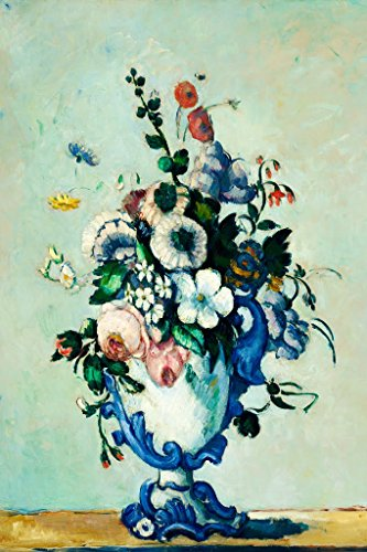 ArtParisienne Flowers in a Rococo Vase by Paul Cézanne Wall Decal, 36
