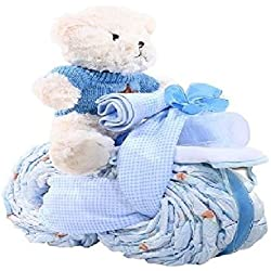 Alder Creek Gifts Tricycle Diaper Cake-Boy, 27 Count