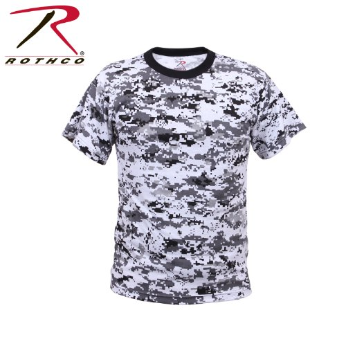 Rothco Kids T-Shirt, City Digital Camo, Medium