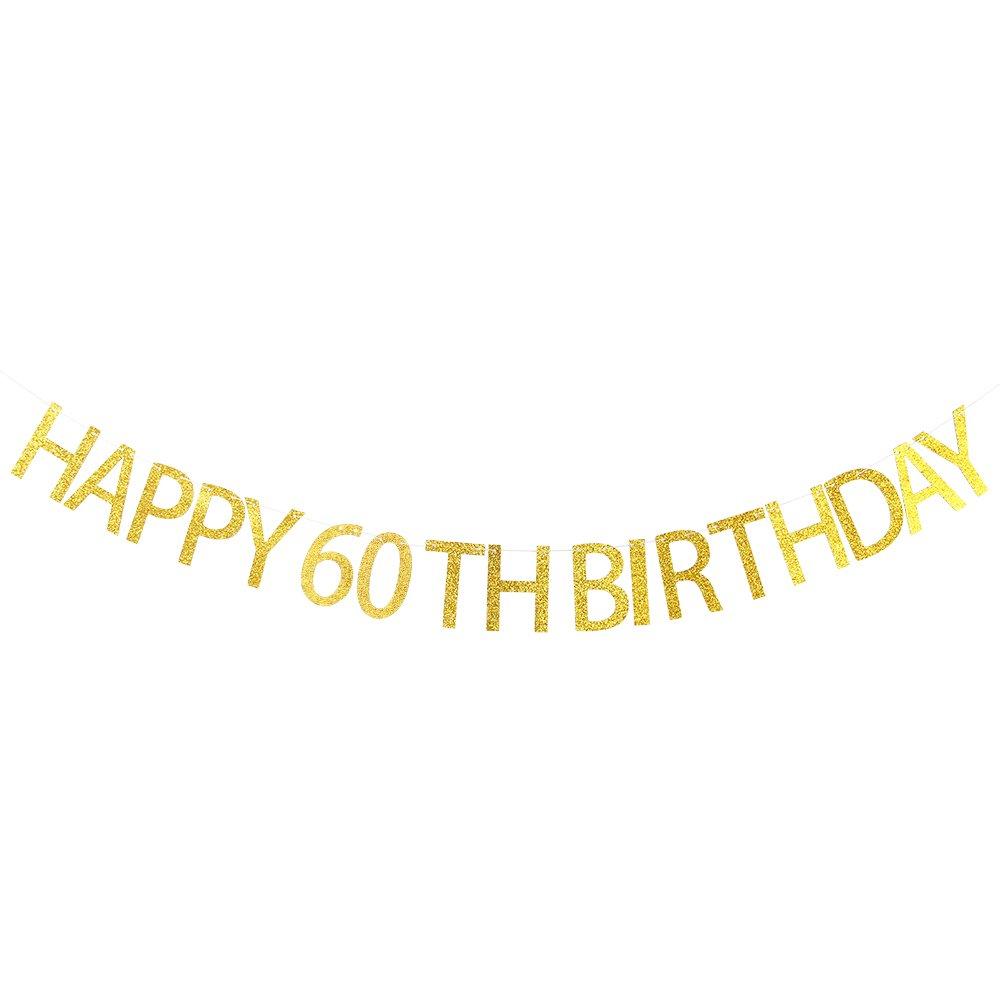 INNORU Happy 60th Birthday Banner