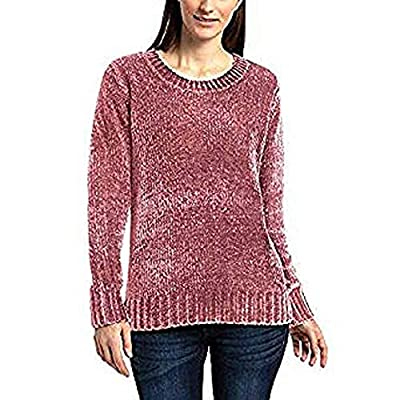 Orvis Ladies' Chenille Sweater (Rose, XXL) at  Women's Clothing store