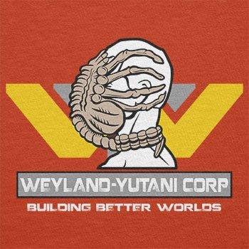 TEXLAB - Weyland Yutani Facehugger - Herren T-Shirt, Größe XL, orange