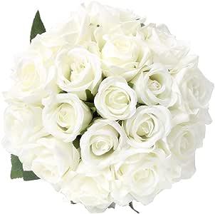 21 Heads//Bouquet Silk Rose Artificial Flower Bouquet Fake Dried Flowers #cz