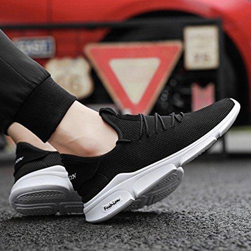 Donna Stringate Eleganti Ginnastica Estive Sneakers Da Nero Uomo Running Beautyjourney Solido Scarpe Sportive Corsa w0Rnp8qpP