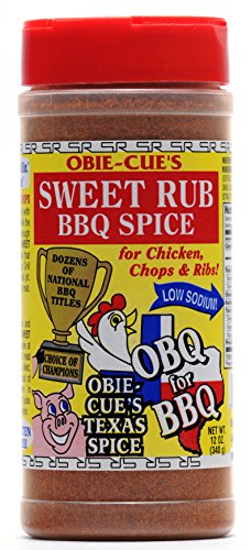 Obie-Cue's Sweet Rub BBQ Spice for Chicken, Chops & Ribs (12 oz)