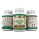 3 Bottles of Turmeric Curcumin Ginseng Olive Leaf Bioperine I Mega Power Essential Extract by Herbalist's Best 95% Curcuminoids 100% Natural Immune Booster Anti Inflammatory Anti Aging Antioxidant