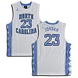 Jordan Big Boys' (Youth) UNC North Carolina Tar Heels Replica Jersey Michael Jordan #23 (Small, White/Blue)