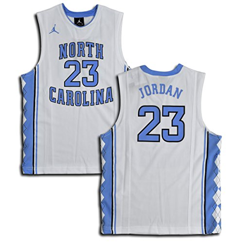 Michael Jordan North Carolina Jersey (Jordan Big Boys' (Youth) UNC North Carolina Tar Heels Replica Jersey Michael Jordan #23 (Small, White/Blue))