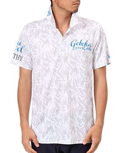 [ガッチャ ゴルフ] GOTCHA GOLF ポロシャツ メキシカン柄ドライポロ 182GG1217 ホワイト Sサイズ