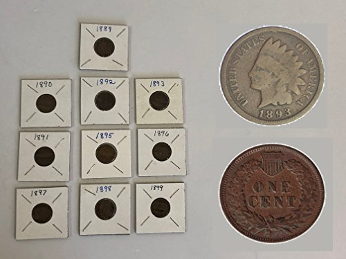 1800 Mixed 10-COIN SET (PRE-1900) INDIAN HEAD CENTS 1C US Mint Circulated