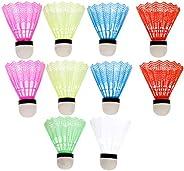WINOMO 12 peças de petecas para badminton de plástico, para uso interno e externo, treinamento, badminton, pás