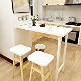 Convertible Coffee Table to Dining Table Wall-Mounted Drop-leaf Table Dining Table Convertible Desk Folding Solid Wood Fold Table 108.151.8cm (Color : White)