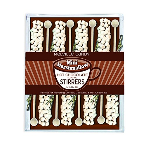 Price comparison product image Melville Candy Mini Marshmallow Hot Chocolate Stirrers,  2.4Oz. (Pack of 8)