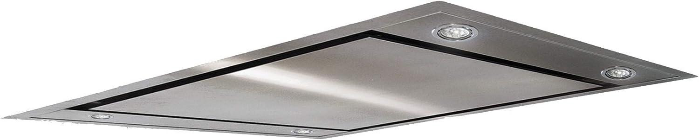 Campana extractora de techo extraplana, altura 170 mm, ultra silenciosa 42 dB, 880 m3/h, acero inoxidable, anchura 90 cm, filtro de carbón incluido, clase A: Amazon.es: Grandes electrodomésticos