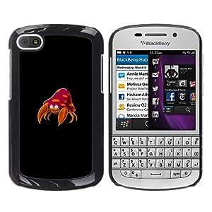 EJOY---Cubierta de la caja de protección la piel dura para el / BlackBerry Q10 / --Meter Cangrejo Monstruo