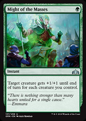 Magic: The Gathering - Might of The Masses - Foil - Guilds of Ravnica - Uncommon
