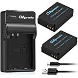 OAproda 2-Pack of LP-E12 Battery and Rapid Micro USB Charger for Canon LPE12 and EOS M50, EOS M100, EOS M, EOS M10, EOS M2, EOS 100D, Rebel SL1 Mirrorless Digital Camera (Fast Charge, Light Weight)