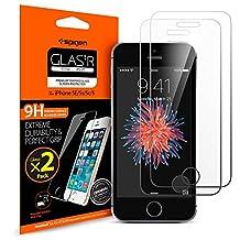 iPhone SE / 5S / 5 / 5C Screen Protector, Spigen® [Tempered Glass] [2 Pack] Screen Protector for Apple iPhone SE / 5S / 5 / 5C