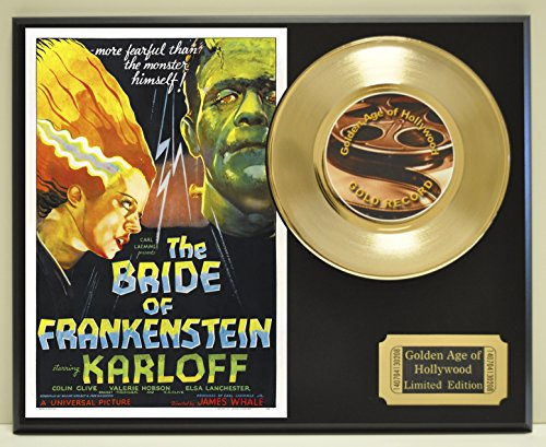 Bride of Frankenstein Limited Edition Gold 45 Record Display. Only 500 made. Limited quanities. FREE US SHIPPING