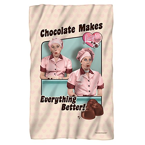 Lucy Friends And Chocolate Fleece Blanket White One Size