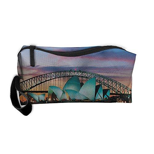 Kla Ju Portable Pencil Bag Purse Pouch Sydney Opera House Australia Stationery Storage Organizer Cosmetic Holder]()
