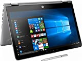 2018 HP High Performance 2-in-1 15.6-Inch Touchscreen Convertible Laptop with Stylus Pen, Intel Core i5-7200U Processor, 8GB RAM, 128GB HDD, WIFI, Bluetooth, HDMI, B&O PLA, Windows 10, Silver